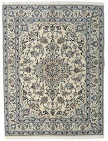 Nain Rug 160X215 Authentic  Oriental Handknotted Light Grey/Dark Grey (Wool, Persia/Iran)