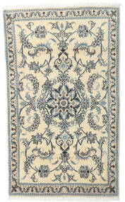 Nain Rug 92X151 Authentic Oriental Handknotted Light Grey/Beige (Wool, Persia/Iran)