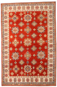 Kazak Rug 205X310 Authentic  Oriental Handknotted Rust Red/Light Brown (Wool, Afghanistan)