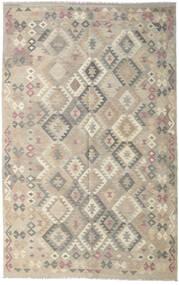 Kilim Afghan Old Style Rug 190X301 Authentic  Oriental Handwoven Light Grey (Wool, Afghanistan)