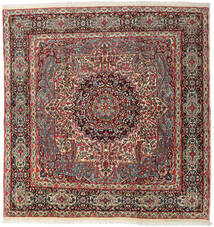Kerman Rug 240X247 Authentic  Oriental Handknotted Square Dark Grey/Dark Red (Wool, Persia/Iran)