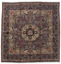 Kerman Rug 242X246 Authentic  Oriental Handknotted Square Dark Blue/Black (Wool, Persia/Iran)