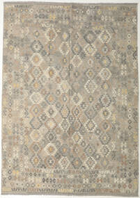 Kilim Afghan Old Style Rug 240X341 Authentic Oriental Handwoven Light Grey/Olive Green (Wool, Afghanistan)