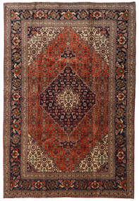 Tabriz Rug 205X305 Authentic  Oriental Handknotted Dark Red/Light Brown (Wool, Persia/Iran)