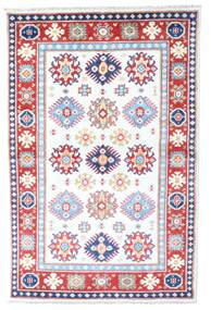 Kazak Rug 98X149 Authentic  Oriental Handknotted White/Creme/Light Pink (Wool, Afghanistan)