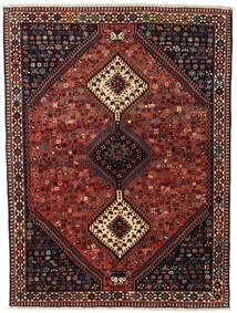 Yalameh Rug 155X201 Authentic  Oriental Handknotted Dark Red/Black (Wool, Persia/Iran)