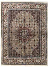 Moud Rug 152X206 Authentic  Oriental Handknotted Light Grey/Dark Brown (Wool/Silk, Persia/Iran)