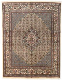 Moud Rug 150X194 Authentic  Oriental Handknotted Light Brown/Light Grey/Dark Grey (Wool/Silk, Persia/Iran)