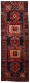 Hamadan Rug 104X295 Authentic  Oriental Handknotted Hallway Runner  Dark Red (Wool, Persia/Iran)