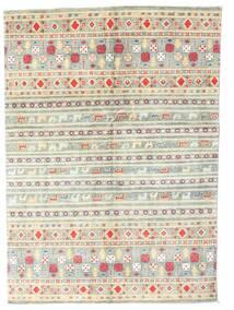 Kazak Rug 142X199 Authentic Oriental Handknotted Beige/Light Grey (Wool, Pakistan)