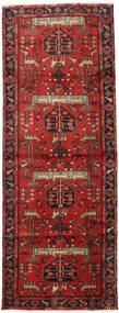 Hamadan Rug 105X284 Authentic  Oriental Handknotted Hallway Runner  Dark Red/Rust Red (Wool, Persia/Iran)