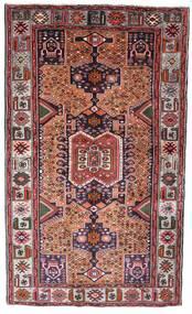 Hamadan Rug 130X222 Authentic Oriental Handknotted Dark Brown/Dark Red (Wool, Persia/Iran)