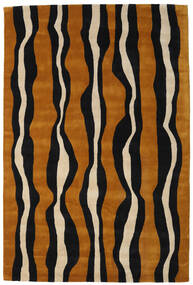 Tigre - Gold/Beige Rug 160X230 Modern Black/Brown (Wool, India)