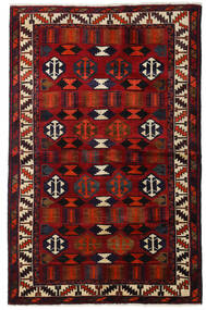 Lori Rug 145X224 Authentic Oriental Handknotted Dark Brown/Dark Red (Wool, Persia/Iran)