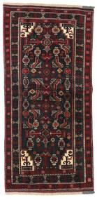 Baluch Rug 98X205 Authentic Oriental Handknotted Black/Dark Red (Wool, Persia/Iran)