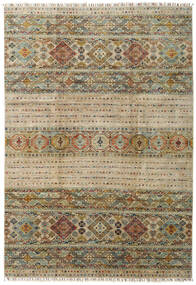 Shabargan Rug 205X297 Authentic  Modern Handknotted Light Grey/Olive Green (Wool, Afghanistan)