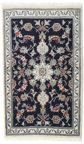 Nain Rug 90X147 Authentic  Oriental Handknotted Dark Purple/White/Creme (Wool, Persia/Iran)