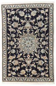 Nain Rug 90X135 Authentic  Oriental Handknotted Dark Blue/Light Grey/Dark Grey (Wool, Persia/Iran)