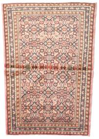 Hosseinabad Rug 102X145 Authentic Oriental Handknotted Light Pink/Light Brown (Wool, Persia/Iran)