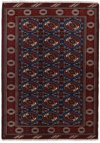 Turkaman Rug 135X190 Authentic  Oriental Handknotted Dark Red (Wool, Persia/Iran)