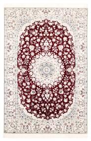 Nain 6La Rug 121X182 Authentic  Oriental Handwoven White/Creme/Light Pink (Wool/Silk, Persia/Iran)
