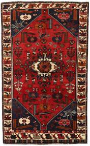 Shiraz Rug 147X239 Authentic Oriental Handknotted Black/Dark Red/Rust Red (Wool, Persia/Iran)