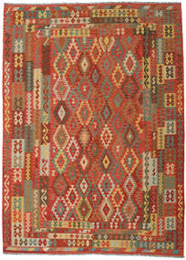 Kilim Afghan Old Style Rug 249X344 Authentic  Oriental Handwoven Orange/Dark Beige (Wool, Afghanistan)