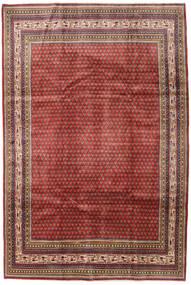 Sarouk Mir Rug 209X314 Authentic  Oriental Handknotted Dark Red/Dark Brown (Wool, Persia/Iran)