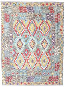Kilim Afghan Old Style Rug 175X233 Authentic  Oriental Handwoven Light Grey/Light Pink (Wool, Afghanistan)