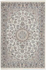 Nain 9La Rug 114X173 Authentic  Oriental Handwoven Light Grey/Dark Grey (Wool/Silk, Persia/Iran)