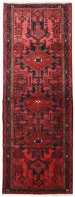 Hamadan Rug 109X306 Authentic  Oriental Handknotted Hallway Runner  Dark Red/Crimson Red (Wool, Persia/Iran)
