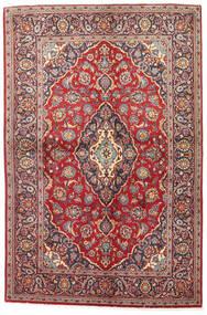 Keshan Rug 141X215 Authentic  Oriental Handknotted Dark Red/Brown (Wool, Persia/Iran)