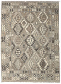 Kilim Afghan Old Style Rug 180X241 Authentic  Oriental Handwoven Light Grey/Dark Grey (Wool, Afghanistan)