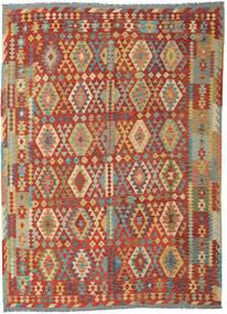 Kilim Afghan Old Style Rug 253X348 Authentic  Oriental Handwoven Dark Red/Dark Beige Large (Wool, Afghanistan)