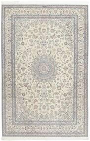 Nain 6La Rug 207X317 Authentic  Oriental Handknotted Light Grey/Dark Beige (Wool/Silk, Persia/Iran)