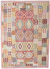 Kilim Afghan Old Style Rug 206X288 Authentic Oriental Handwoven Beige/Dark Beige (Wool, Afghanistan)