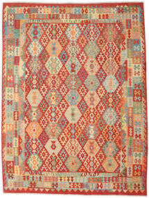 Kilim Afghan Old Style Rug 262X347 Authentic  Oriental Handwoven Rust Red/Dark Beige Large (Wool, Afghanistan)
