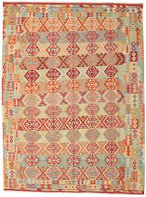 Kilim Afghan Old Style Rug 259X348 Authentic  Oriental Handwoven Dark Beige/Crimson Red Large (Wool, Afghanistan)