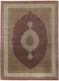 Tabriz Royal Rug 299X402 Authentic  Oriental Handknotted Brown/Light Grey Large ( India)