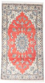 Nain Rug 120X215 Authentic  Oriental Handknotted White/Creme/Light Grey (Wool, Persia/Iran)