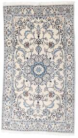 Nain Rug 123X218 Authentic  Oriental Handknotted White/Creme/Light Grey (Wool, Persia/Iran)
