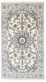 Nain Rug 119X213 Authentic  Oriental Handknotted Light Grey/Beige (Wool, Persia/Iran)