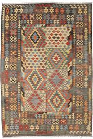 Kilim Afghan Old Style Rug 195X295 Authentic  Oriental Handwoven Light Brown/Dark Grey (Wool, Afghanistan)