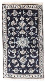 Nain Rug 69X126 Authentic  Oriental Handknotted Dark Purple/Dark Grey (Wool, Persia/Iran)
