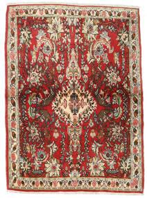 Senneh Rug 107X150 Authentic  Oriental Handknotted Dark Brown/Rust Red (Wool, Persia/Iran)