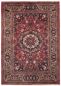 Moud Rug 200X285 Authentic  Oriental Handknotted Dark Red/Black (Wool/Silk, Persia/Iran)