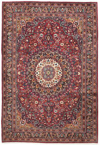 Moud Rug 210X300 Authentic  Oriental Handknotted Dark Red/Dark Brown (Wool/Silk, Persia/Iran)
