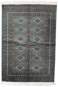 Pakistan Bokhara 2Ply Rug 140X204 Authentic  Oriental Handknotted Dark Grey/Dark Green (Wool, Pakistan)