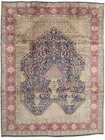 Kerman Rug 303X396 Authentic  Oriental Handknotted Light Grey/Dark Grey Large (Wool, Persia/Iran)