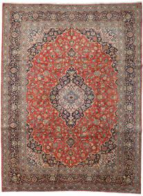 Keshan Rug 313X418 Authentic  Oriental Handknotted Light Brown/Dark Grey Large (Wool, Persia/Iran)